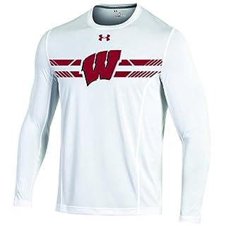 Under Armour Performance NCAA Men's Sideline Long Sleeve Training Tee, White, XX-Large