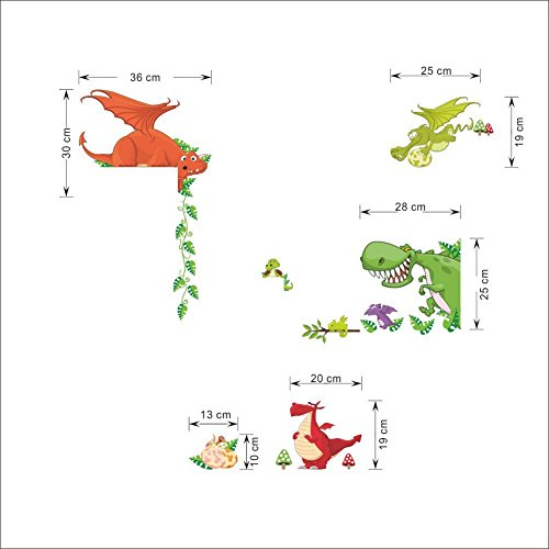 Image of Dinosaur Pattern Wall Stickers DIY Removable Art Vinyl Quote Wall Sticker Decal Mural Home Room D��cor