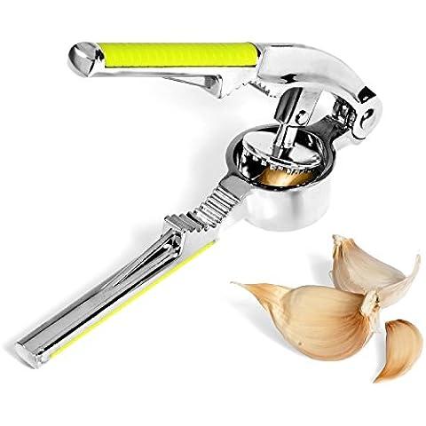 Pressa aglio, acciaio INOX, non UCMDA Ginger-Spremi limoni e chiodi di garofano, tritacarne cucina professionale da Chef per la casa Verde