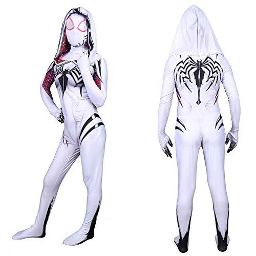 White Morph Anzüge - Halloween Kostüm Overall Erwachsene Kinder Spiderman