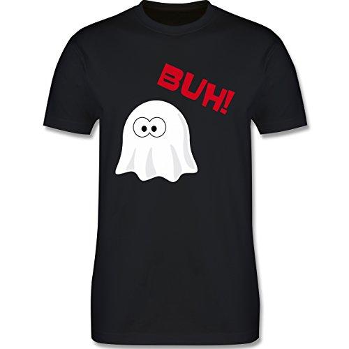 Halloween - Kleiner Geist Buh süß - L - Schwarz - L190 - Herren Premium T-Shirt (Sportliche Halloween Kostüme)