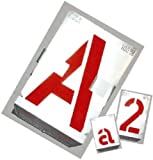 GRAVUREM Signierschablonen Buchstaben von A-Z, SH 100 mm