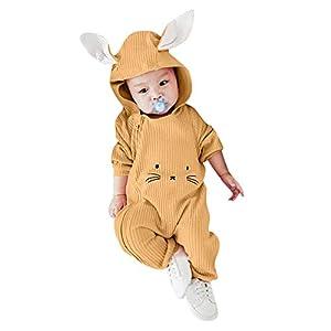 TPulling Baby Mädchen Junge Kleidung Karikatur-3D Ohr-mit Kapuze Spielanzug-Overall-Kleidung