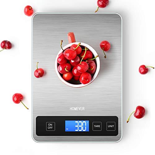 Bascula Cocina, Bascula de Cocina Homever de 15 kg Panel Grande de...