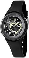 Calypso  watches K5576/6 - Reloj analógico de cuarzo para niña, correa de goma color negro