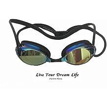 Mejor Racing antiniebla impermeable gafas de natación Speedo estilo arena para hombres y mujeres (negro)