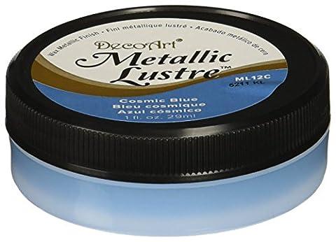 Deco Art Metallic Lustre Wax Finish 1oz-Cosmic Blue, Other, Multicoloured