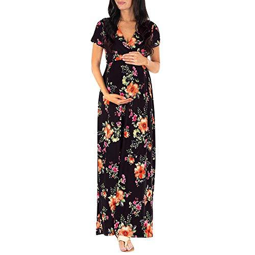 Robemon Damen Elegant Spitze Umstandskleid Mutter Riemchen Minikleid Umstandsmode Partykleider Schwangerschaftskleid Damen Mutterschaft Kleid Schwangere Elegante Fotografie Krankenpflege -