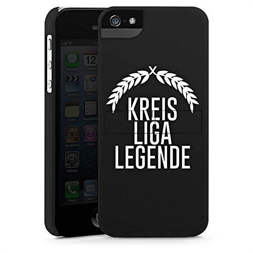 Apple iPhone X Silikon Hülle Case Schutzhülle Kreisliga Fußball Legende Premium Case StandUp
