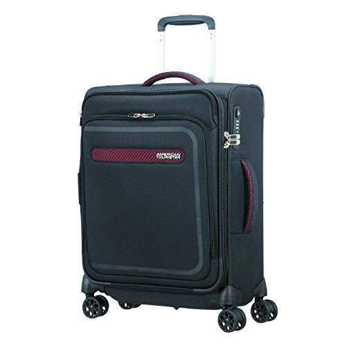 American Tourister Airbeat - Spinner 55/20 Erweiterbar Koffer, 55 cm, 43 L, Universe Schwarz