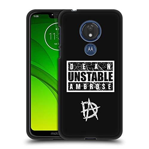 fizielle WWE Zeichen Dean Ambrose 2 Soft Gel Hülle Schwarz für Motorola Moto G7 Power ()