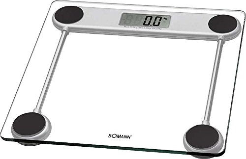 Glaswaage mit LCD-Display Personenwaage Waage Gewicht (Messbereich 2,5 bis 150 kg + inkl. Batterien)