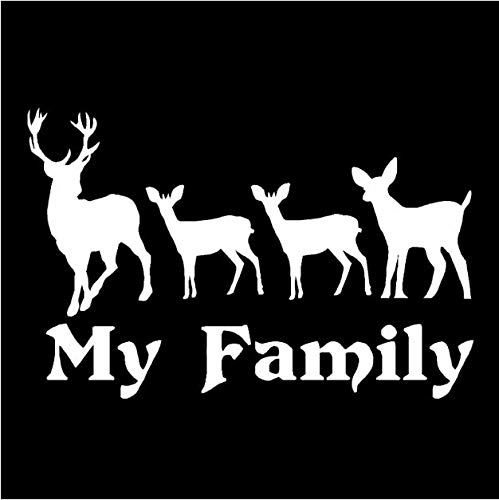 Zemn Wandaufkleber 12 cm * 7,9 cm Meine Familie Deer Tier Aufkleber Vinyl Dekoration Auto Aufkleber (Deer Family Auto-aufkleber)