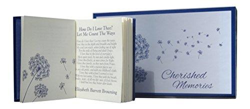 Boîte du souvenir comprenant un recueil de poèmes réconfortants conçu comme un cadeau de deuil ou comme souvenir en mémoire d'un être cher