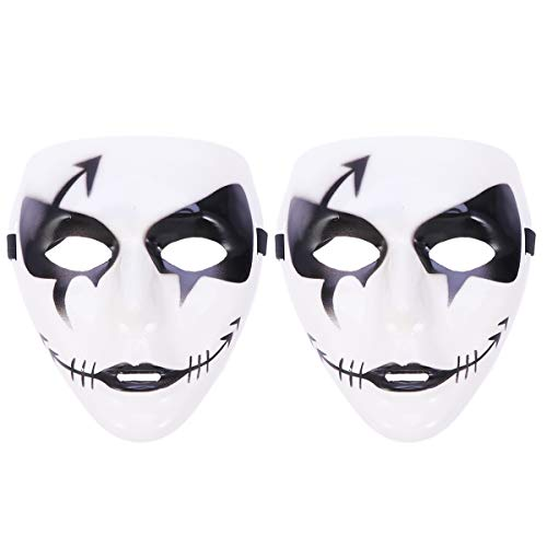 Amosfun Death Dancer Maske Halloween Maskerade Ghost Cosplay Party Kostüm Prop Dress-up Zubehör 2 STK (Feature Tänzerin Kostüm)