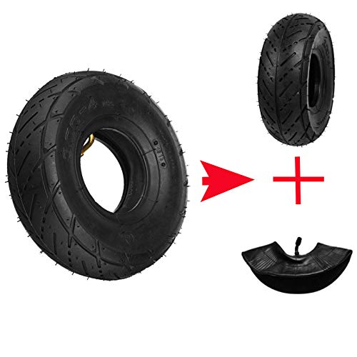 Wooya 3.00-4 Petrol Scooter Outer Outer Tire + Inner Tube for Bike Oder 9X3.50-4
