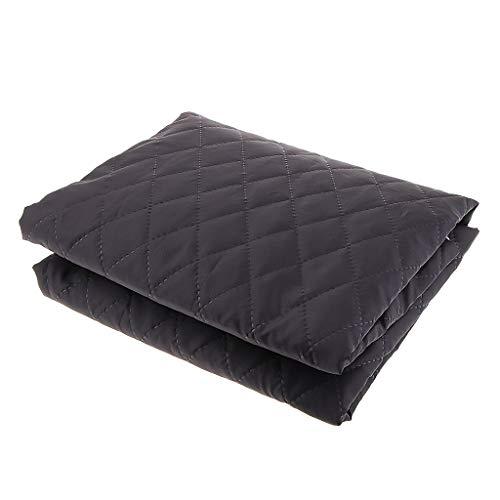 Baumwolle-poly-stoff (B Baosity Poly/Baumwolle Steppfutter Futterstoff Steppstoff Jackenfutter, Doppelseitige Stoffe, 1,45x1m - Schwarz)