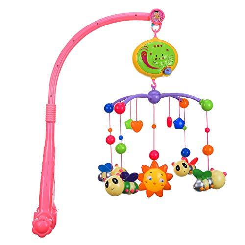 Huhua Cloche rotative Suspendue avec Jouet de décoration de lit de bébé (Rose)