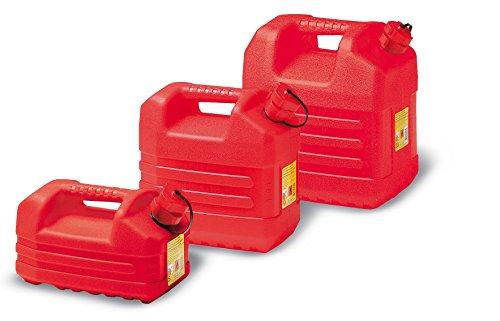 EDA - Jerrycan à essence - Avec bec - 5 Litre - Rouge