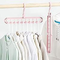 Quifinity Wardrobe Space Saver Folding Hangers,Hangers for Clothes Wardrobe, Closet Organiser, Anti-Skid Plastic Magic…