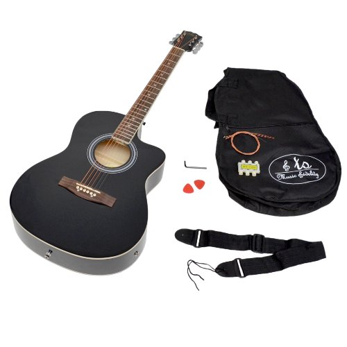 Ts ideen guitare lectro acoustique avec micros noirs et for Ts ideen