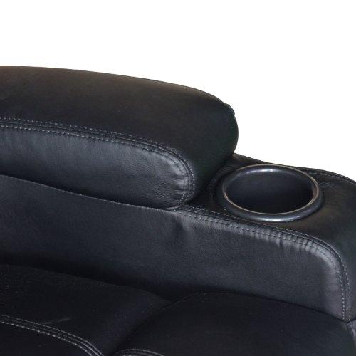 Homcom® Massagesessel Fernsehsessel mit Heizfunktion und Massagefunktion schwarz - 9