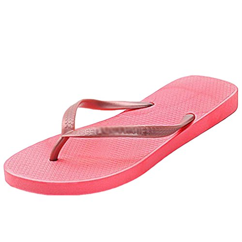 Yiiquan Donna Infradito Estate Flip Flops Sandali Spiaggia Piscina Scarpe Rosso