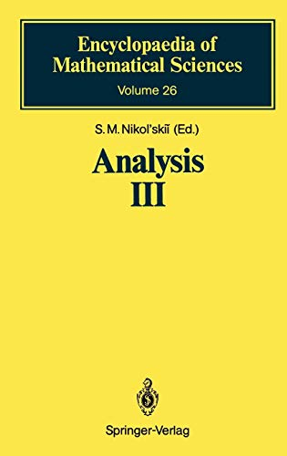 Analysis III: Spaces of Differentiable Functions (Encyclopaedia of Mathematical Sciences (26), Band 26)