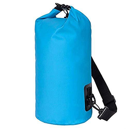 Outdoor-Rucksack Lmeno 10L wasserdichter Packsack Kompressionsrucksack Trockenausrüstung für Outdoor-Rafting Wandern Camping Snowboarden mit verstellbarem Riemen Rollverschlusssystem Leichtes umweltfr