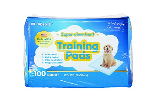 All-Absorb Training Pads  56cm x 58cm  100-count   Trainingsunterlagen Für Welpen (Hund-pad-training)