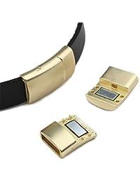 5pcs Cierres Magnéticos De Oro Rectángulo Conector Artesanías De Cuero De Joyería 11 x 3mm