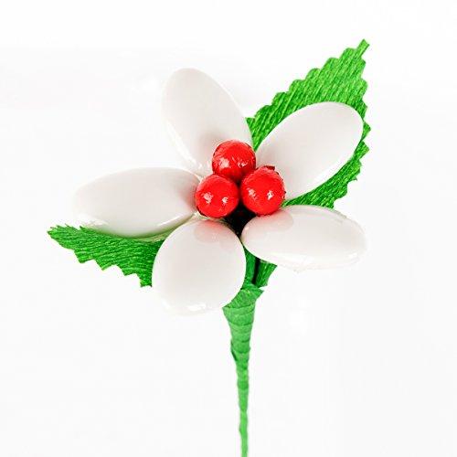 Margherita tris confetti - fiore di confetto - confetti pelino di sulmona