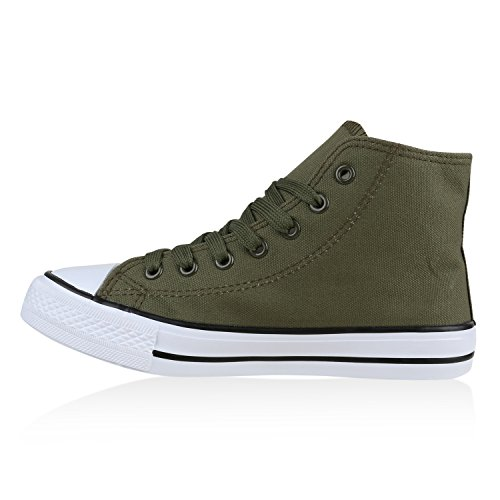 Scarpe Da Uomo Sneakers Sneakers Alte Sneakers In Denim Scarpe Mimetiche Lacci Flandell Verde Scuro