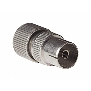 Bulk Hardware BH02202 Female Metal TV Aerial Co-Axial Plug - Pack of 2