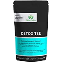 DETOX TEE - Einzigartige Mischung aus Löwenzahn, Mariendistel, Brennnessel, Klettenwurzel, Goldrute, Birke, Taigawurzel, Grüner Tee, Mate Tee, uvm - Effektive Entgiftung durch optimale Zusammensetzung