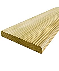 10 Value Decking Boards 19 x 118mm - Cheap Tanalised Garden Decking (10 x 1.8m Value Decking Boards)