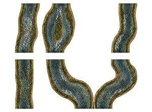 playmats.eu 1-6A - Juego de módulos de Flujo 2D, diseño primaveral