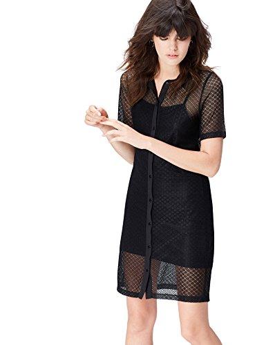 find. 70197 vestidos mujer, Negro (Black), 40 (Talla del Fabricante: Medium)