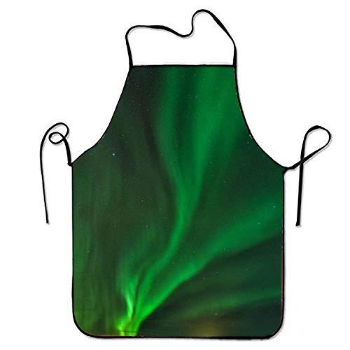 KLYDH Green Aurora Polaris Aprons Printed Apron for Restaurant Crafting BBQ
