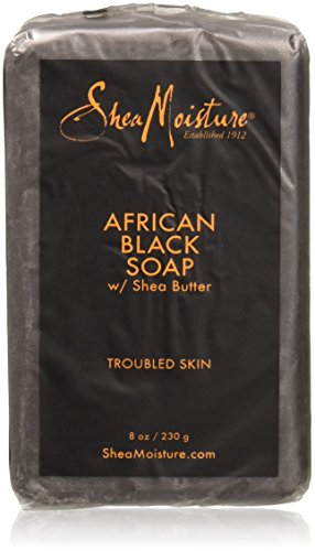Shea moisture Organic African Black Soap Bar with Shea Butter, 8oz