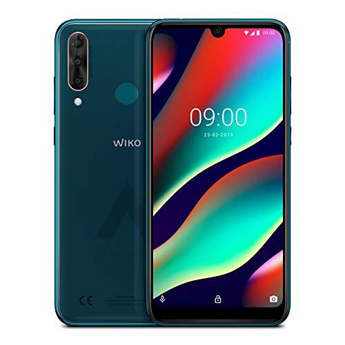 WIKO View3 Pro 128GB+6GB Smartphone ( 6,3 Zoll, Triple-Kamera, 4000 mAh Akku, Dual-SIM, Android 9.0), Deep Bleen