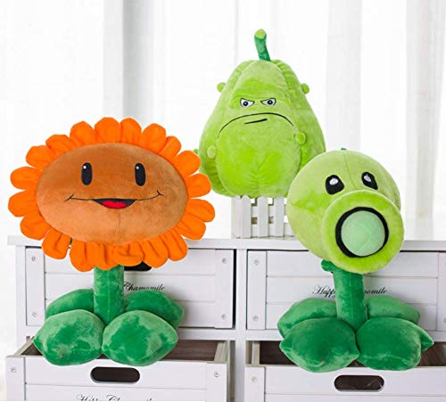 lzpoyaya Pflanzen Vs Zombies Plüschtiere, Stofftiere Puppe Baby Spielzeug, Für Kinder Geschenke Party Spielzeug 30 cm