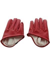 Damen Handschuhe Leder Fünf-Finger Halb Palm