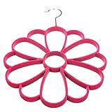 MECO Schalhänger am Bügel Blume für den Kleiderschrank Rosa