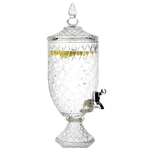 XHHWJJ Jarra de té Dispensador de Bebidas y Tapa de Vidrio Entretenimiento Hogar y Cocina Cristalería Jarra de Agua para jugos, Vino, Kombucha y Bebidas frías, 4.5 l (Tamaño : 4.5L)