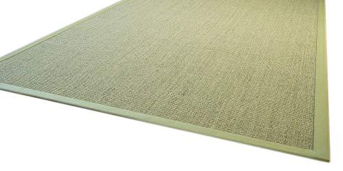 Sisal Teppich Brazil mit Bordüre Farbe grün Premium Qualität 100{16c1f7a8417631f7a092efd7444375e2345404e32db241330a33b5488568875e} Sisal, Größe: 140x200 cm