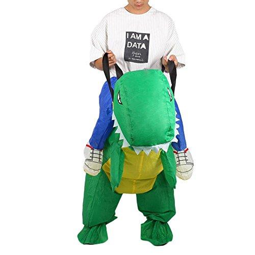 Cido Aufblasbar T-REX Dinosaurier Party Kostüm Dinosaurier aufblasbare Kleidung Halloween Lustiges Kleid Erwachsene (Aufblasbare Dinosaurier Rider Kostüm)