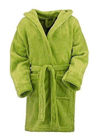 Peignoir de bain à capuche / Robes de chambre Enfant Fille Garçon Serviette de plage exclussif - Vert 3-6 ans (longueur ca, 72 cm) de Brandsseller