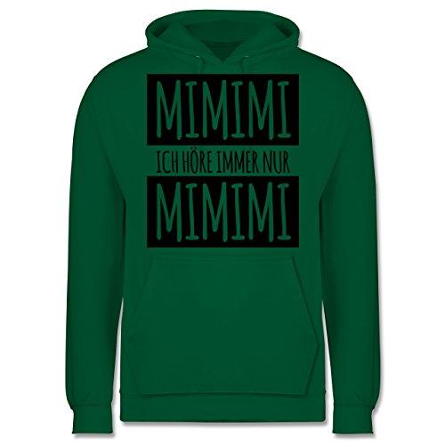 Statement Shirts - Ich höre immer nur Mimimi - Männer Premium Kapuzenpullover / Hoodie Grün