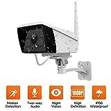 1080P WiFi Überwachungskamera Aussen, WLAN IP Kamera mit IP66-Wasserdichte, Sicherheitskamera Außen Kamera Videoüberwachung mit Bewegungserkennung, 2 Weg Audio, 30m Nachtsicht, Kompatibel iOS/Android